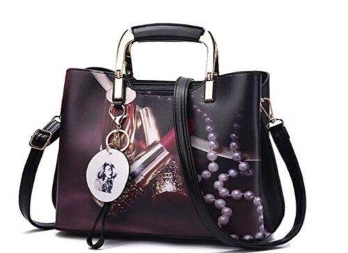 Women's Rose Designed Handbag Purse Crossbody Bags