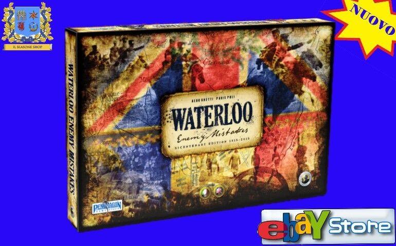 Waterloo, Enemy Mistakes, Napoleone Wargioco, Nuovo, Italiano STORIA  GUERRA  autentico online