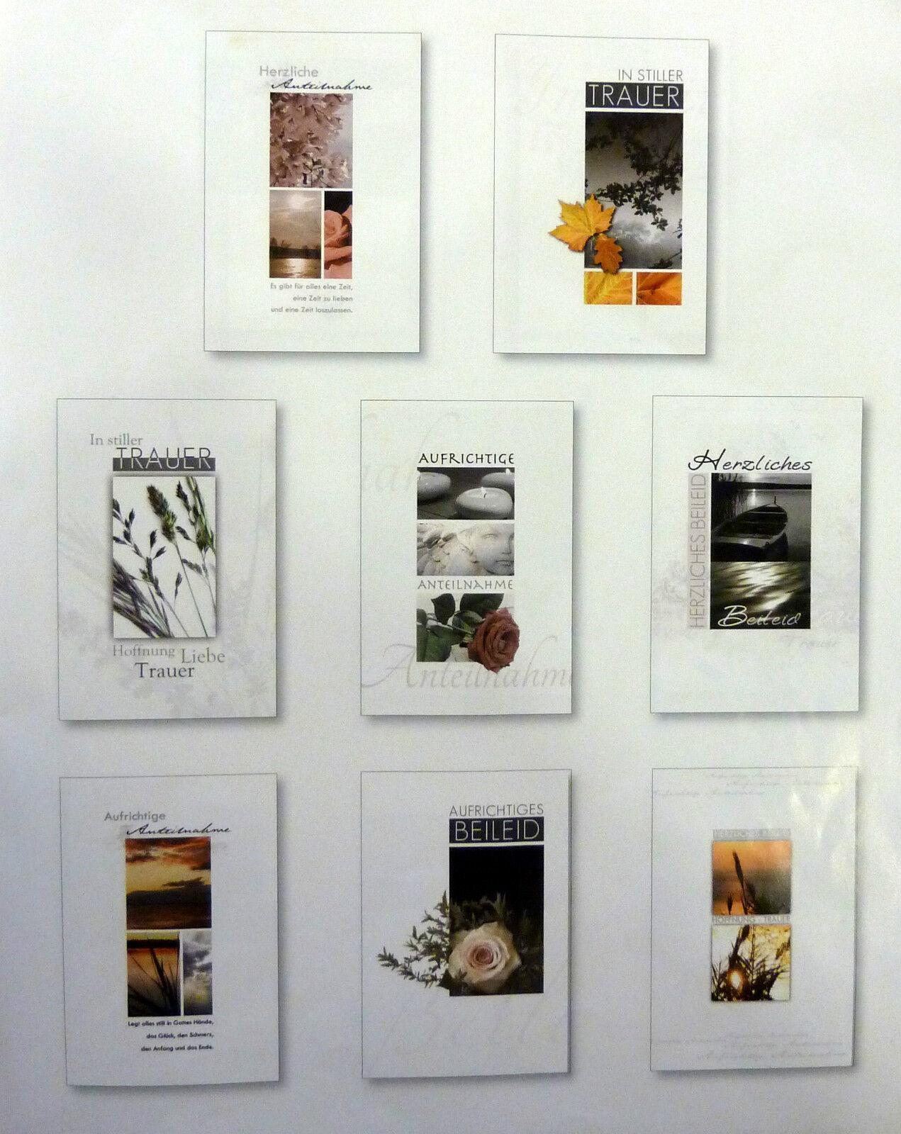 Ab 17,5 ct, Trauerkarten, Beileidskarten,Kondolenzkarten,KlappkartenUmschlag  | Hochwertig  | Hohe Qualität und günstig
