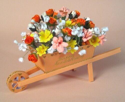 A4 fabrication carte modèles pour 3D brouette & affichage box par carte carousel