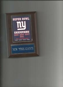 d1fb3ad9 Details about NEW YORK GIANTS SB BANNER PLAQUE NY SUPER BOWL CHAMPIONS  CHAMPS FOOTBALL NFL