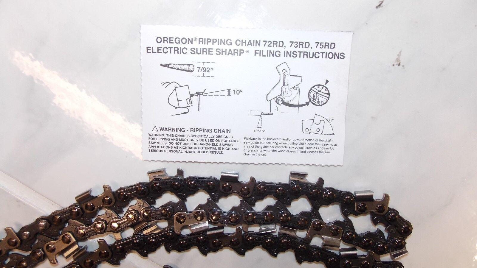1 cadena de Oregon 75RD092G ripeo Motosierra 28  3 8 .063 92 DL Rip fresado de Sierra