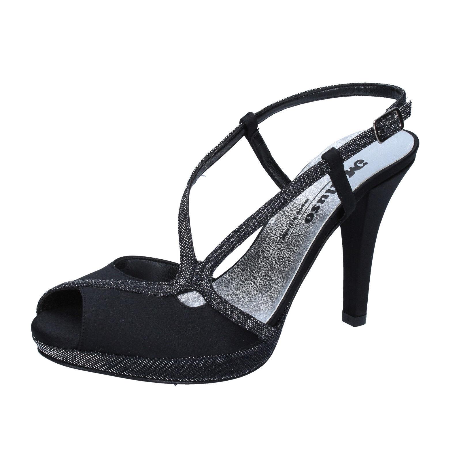 Scarpe donna sandali MELLUSO 39 EU sandali donna nero raso BZ789-F da4096