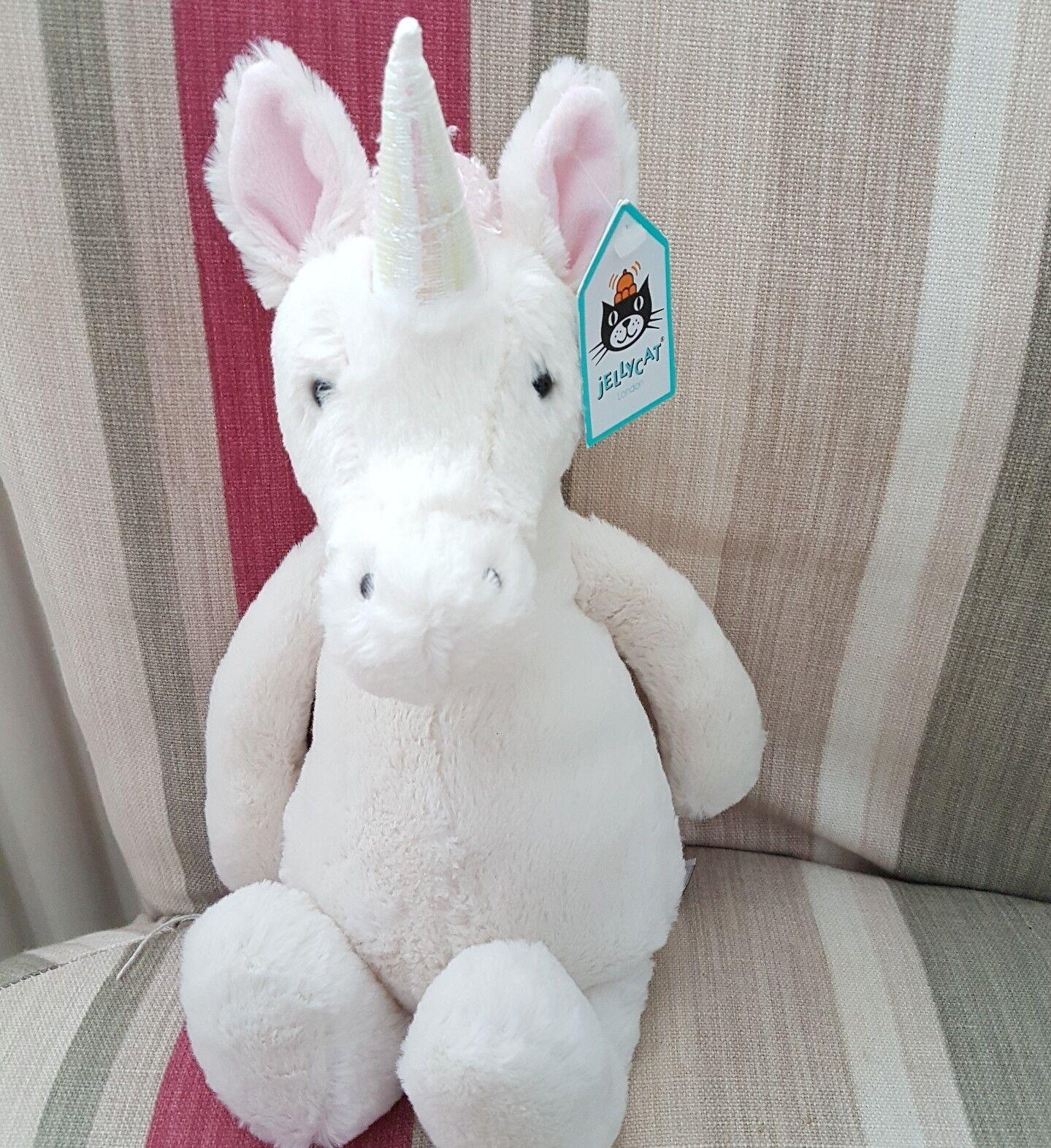 New Jellycat medium Bashful Weiß Unicorn Soft Toy Medium 12