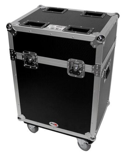 Chauvet Q-Spot 260 LED Moving Head Lights 2 Flight Case w// Wheels For