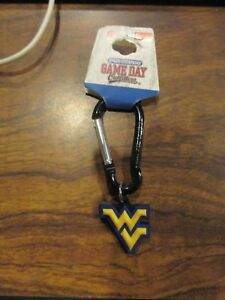 West-Virginia-Mountaineers-Black-Clip-Keychain-GAMEDAY-w-Free-ship