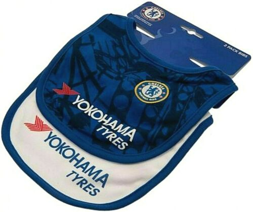 NEW 2019//20 CHELSEA FC BABIES PRAM BODY SUIT SHORT SLEEVE BABY GROW VEST x2 CFC