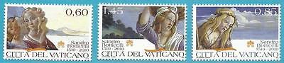 500 Begeistert Vatikan Aus 2010 ** Postfrisch Minr 1661-1663 Todestag Von Bolticelli!