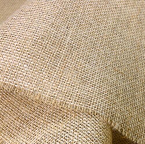 Ribbon /& Fabric 50mm Natural Jute Hessian Burlap Rustic Weddings Craft