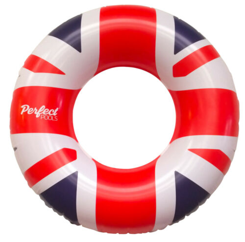 Official /'Perfect Pools/' Union Jack Swimming Pool Rubber Ring Beach Toy