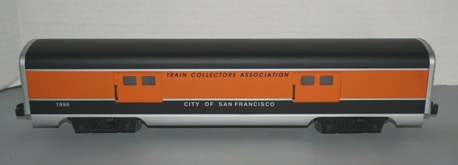 LIONEL O-GAUGE 6-53155 TCA CITY OF SAN FRANCISCO LIGHTED ALUMINUM BAGGAGE CAR