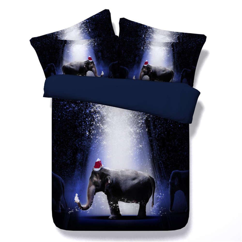 Elephant rot Hat 3D Printing Duvet Quilt Doona Covers Pillow Case Bedding Sets