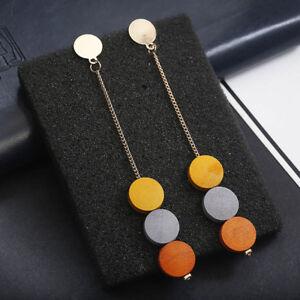 bijoux-elegant-la-mode-null-goutte-de-boucles-d-039-oreilles-null-bois-rond-noir