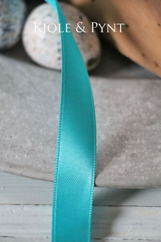 Ruban Satin Turquoise Double Face Satin 15 mm fixation NR 123 0,40 €//m