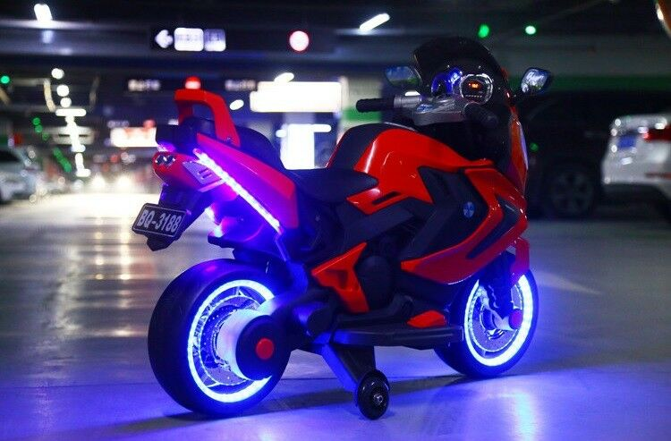 NEW LED 12V 12V 12V MOTOR CYCLE KIDS RIDE ON ELECTRIC SPORTS BIKE GIRLS,BOYS power wheel bcd400