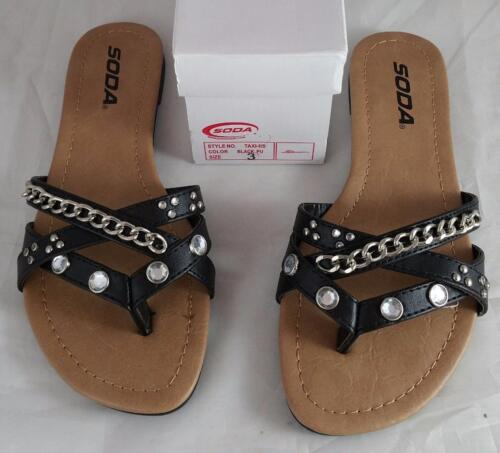 Soda Taxi IIS Girls Youth Black Sandals