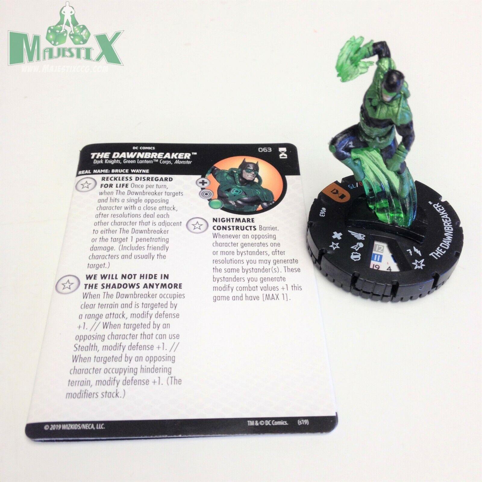 Heroclix DC Renacimiento establecer el Dawnbreaker Figura de Chase Con Tarjeta