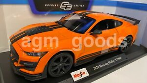 Maisto-1-18-Scale-Ford-Mustang-Shelby-GT500-Orange-Diecast-Model-Car