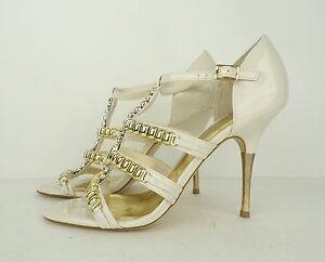 6e1e16966 Image is loading INC-Shoes-Sandals-International-Concepts-White -Gold-Stiletto-