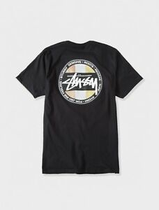 STUSSY-METALLIC-DOT-T-SHIRT-BLACK