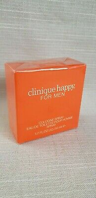 CLINIQUE HAPPY FOR MEN 50 ML 1.7 FL.OZ NIB EDT COLOGNE SPRAY 100% ORIGINAL | eBay