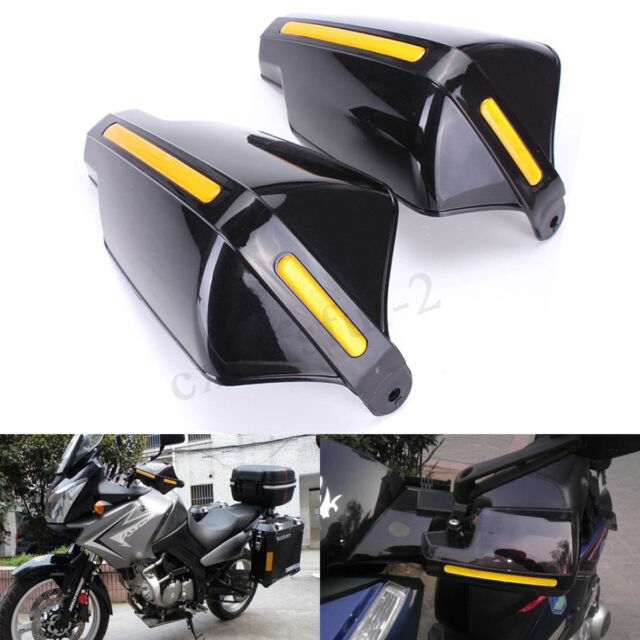 "2x 22mm 7/8"" Handlebar Motorcycle Bike Handguards Hand Guards Protector Black !"
