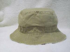 b339da1fe6f Image is loading NEW-WASHED-COTTON-FISHING-BUCKET-HAT-CAP-KHAKI-