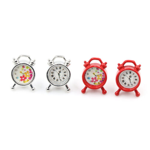 Dollhouse Miniature Model Mini Alarm Clock 1//12 Dollhouse Living Room Decor Hu