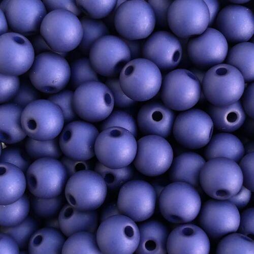 100 pièces Acrylique Perles Ø 6 mm 46726 Royal-blue