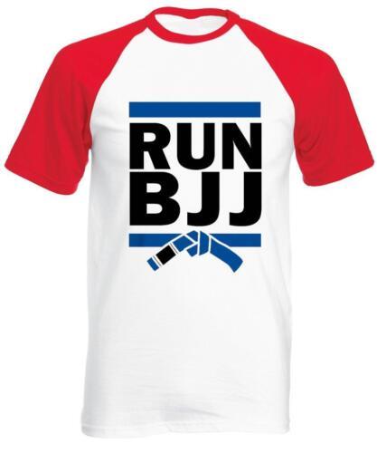Mens Tee Mens Baseball T-Shirt Run BJJ