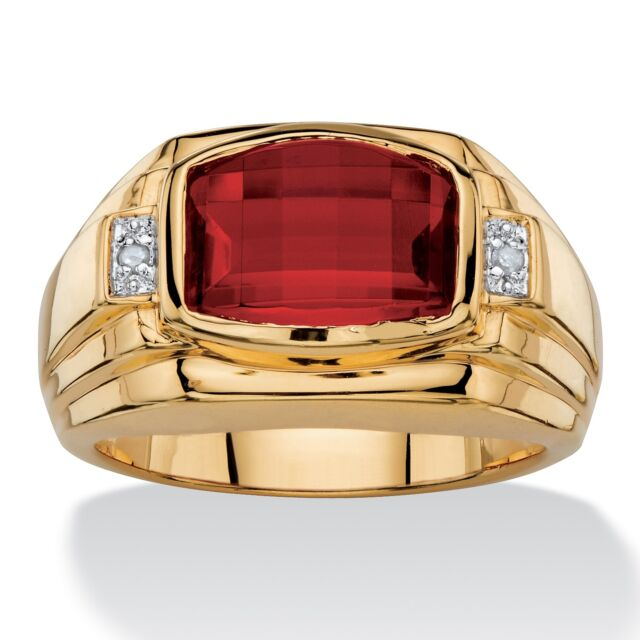 stone rings tension round set three ring nl engagement ruby diamond yg with accent in red yellow gold cut jewelry