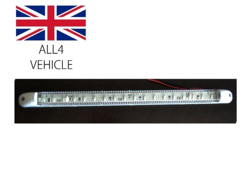 18 LED 24V INTERIOR STRIP LAMP ROOF LIGHT TRUCK LORRY BOAT CARAVAN ON//OFF SWITCH