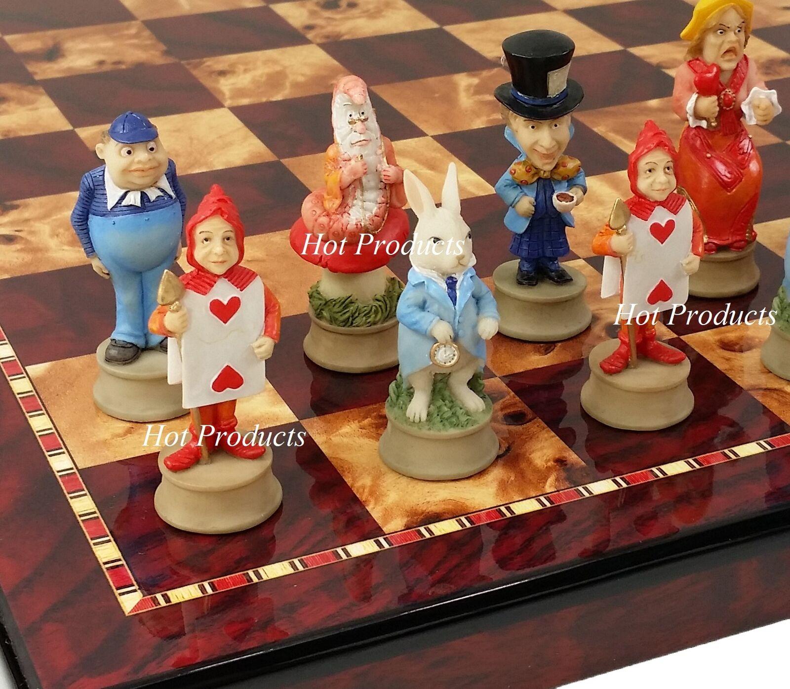 Alice in Wonderle fantasyc Chess Chess Chess Set W  18  Cherry Coloreeee tavola 16151a