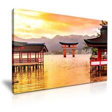 Miyajima Floating Torii Gate Japan Canvas Wall Art Picture 76x50cm