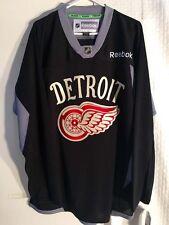 Reebok Practice  NHL Jersey Detroit Redwings Team Black sz L