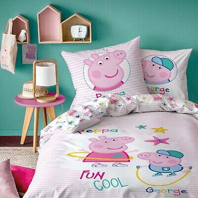 Kinder/mädchen Bettwäsche 80x80 135x200 Cm Baumwolle Peppa Pig Wutz & George