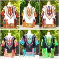 DASHIKI AFRICAN HIPPIE SHIRT TRIBAL TOP BLOUSE CAFTAN TRIBAL MEN WOMEN  SIZE 56""