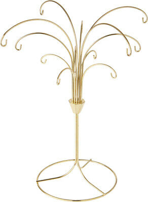 """Bard/'s Twisted Gold-toned Ornament Stand 12.25/"""" H x 7.5/"""" W x 7.5/"""" D Pack of 2"""