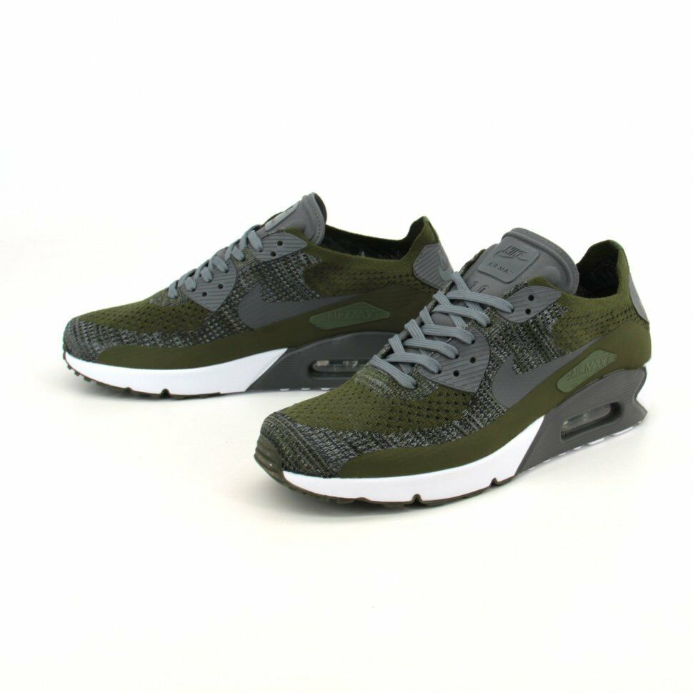 The latest discount shoes for men and women NIKE AIR MAX 90 ULTRA 2.0 FLYKNIT SNEAKERS CARGO KHAKI MENS SIZES US  875943-300