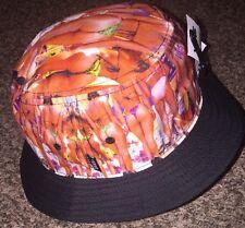 Vans Hank Photo Bucket Hat Cap Bikini Beach Bum Print Large/ XL NWT OSFA L@@K