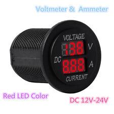 Digital Voltmeter 12-24V Red LED Car Motor Voltage Ammeter Panel Meter Tester
