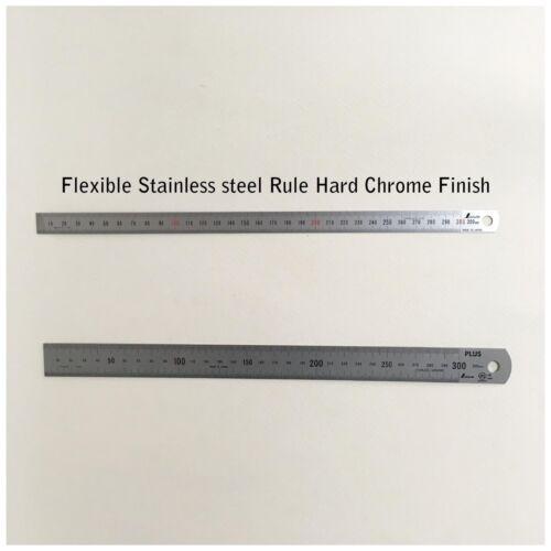 SHINWA Stainless Steel Rule Hard Chrome Finish 1mm Dividing 30cm 300mm 13463