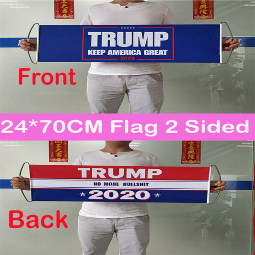 No More BS Bu Donald Trump 2020 Double Sided Printed Flag Keep America Great