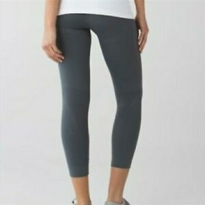 128-LULULEMON-WOMEN-039-S-SIZE-4-ZONE-IN-HIGH-RISE-GRAY-CROP-TIGHTS-SEAMLESS-EUC