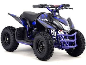 kids four wheeler boys girls blue mini atv dirt bike electric