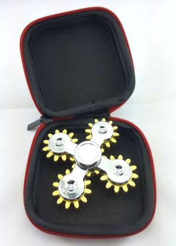 ANXIETY TRI HAND SPINNER MINI FIDGET METAL DESK TOY EDC 1~3 MIN SPIN AUTISM ADH