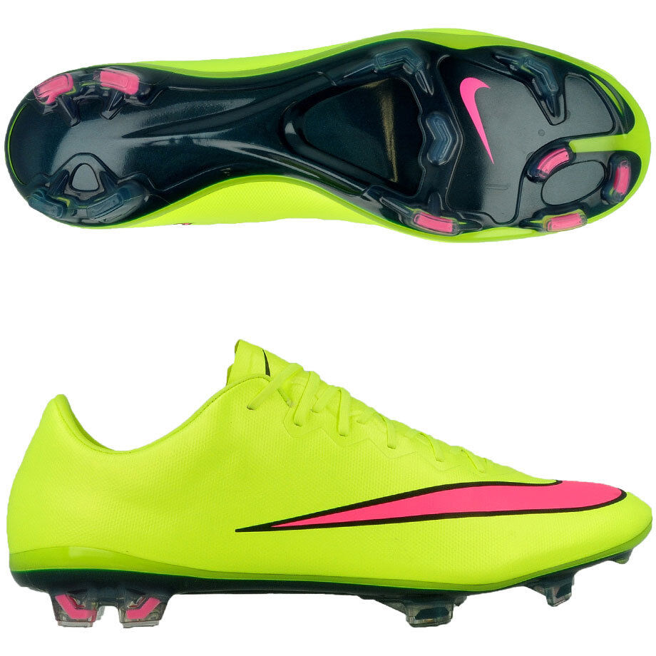 hot sales 218ae eb6a8 Details about Nike Mercurial Vapor X FG ACC Soccer Cleats Green Volt Pink  (648553-760) SZ