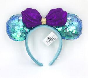 Disney-Parks-Mickey-Mouse-2020-Little-Mermaid-Ariel-Purple-Minnie-Ears-Headband