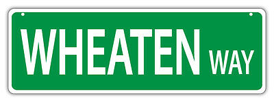Decorations Dogs TERRIER Gifts Plastic Street Signs: WHEATEN WAY