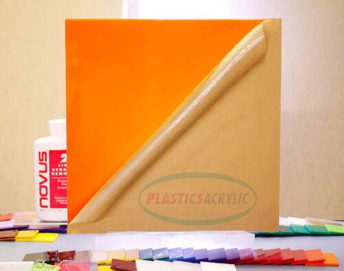 "2119 Orange Translucent Acrylic Plexiglass sheet 1//8/"" x 12/"" x 24/"""